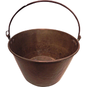 Antique Copper Cauldron Kettle Jam Candy Preserve Pot
