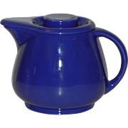 Rare Vintage Kitchen Kraft Covered Jug Cobalt Fiesta Ware Homer Laughlin HLC Pitcher Fiestaware