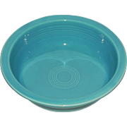 "Vintage Fiesta 8 & 1/2"" Nappy Bowl Turquoise 1930-50s Homer Laughlin HLC"