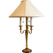 Handsome Frederick Cooper Candlestick Bouillotte Table Lamp Original Shade