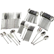 Stanley Roberts 109 pc ROYALTY Service for 12 PLUS Extras Stainless Steel Flatware Danish Modern Retro Mod