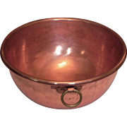 Matfer France Solid Copper Jam Candy Preserve Confiture Preserving Mixing Bowl Pot Pan Basin