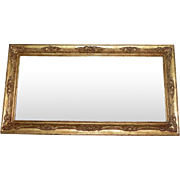 Italian Florentine Gilt Gesso Beveled Glass Wall Mirror Italy