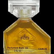 Large Caron Infini 2 oz Perfumed Bath Body Oil New Vintage Perfume