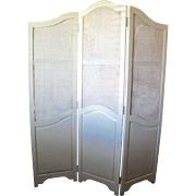 French Country Style Caned Changing Dressing Screen Folding Room Divider 3 Panel