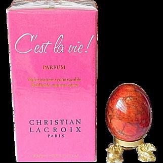 Sealed C'est la Vie Pure Parfum Refillable Atomizer Spray 7.5ml Perfume Christian Lacroix Perfume