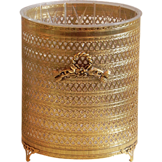 Ormolu Tassel Rope Footed Wastepaper Basket