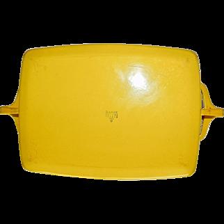 Vintage Dansk France Kobenstyle Yellow Baker Casserole 14 inch