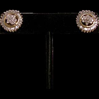 Superior Diamond 14KT Gold Pierced Post Earrings