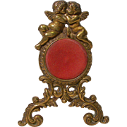 Ornate Brass Cherub Pocket Watch Holder