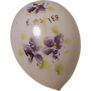 Hand Painted Milk Glass EASTER EGG