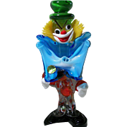 Whimsical MURANO Glass Clown