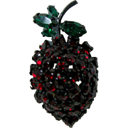 Signed WARNER Strawberry Pin