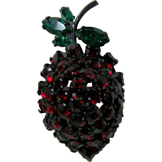 Signed WARNER Strawberry Pin