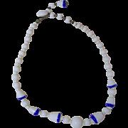 Vintage Milk Glass Necklace