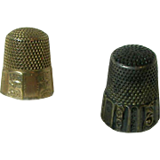 Two Victorian Gold Thimble