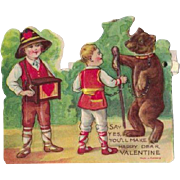 Made in Germany Mechanical Valentine with Bear