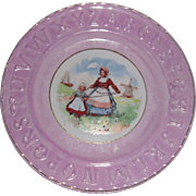 Victorian Alphabet ABC Plate Dutch Mother with Baby