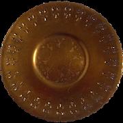 Art Nouveau Pierced Copper Plate