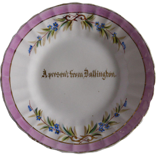Dallington Sussex English Village Calligraphy Souvenir Plate Made in Germany