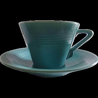 Harlequin Fiesta Vintage Tea Cup Turquoise Fiestaware