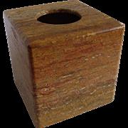 Decorator Stone Tissue Box Holder Boutique Dark Travertine Marble