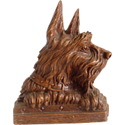 Durawood ORNAWOOD Scottie Dog Single Book End Vintage Bookend Scotty