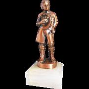 Vintage R Tait McKenzie Copper Boy Scouts Trophy Award Figure Statue