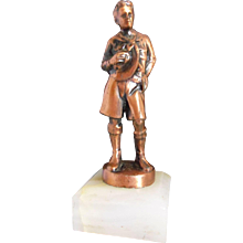 Vintage R Tait McKenzie Copper Boy Scouts Trophy Award Figure Statue - Red Tag Sale Item