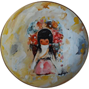 """The Flower Girl"" by Ted DeGrazia Collector Plate Fairmont China Ltd. Ed. 1978"