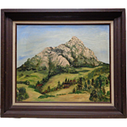 "Vintage Framed Patricia Boyette ""Bishop's Peak"" San Luis Obispo, CA Oil Painting"