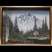 Estate Found Vintage Signed Carter Mountain Landscape Oil Painting on Canvas