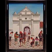 """Samuel S. Vintage """"El Calvario de Chicicastenango (Comalapa)"""" Oil Painting"""