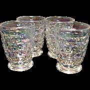 Federal Yorktown 6oz drinking glasses, set of 4