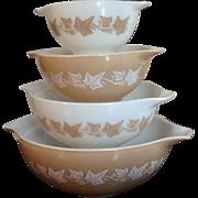 Pyrex Sandalwood Cinderella Nesting Bowls