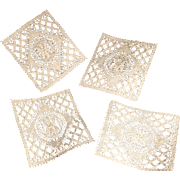 Set of Four Nottingham Lace coasters