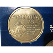 Argentina '78 World Cup set of six commemorative coins