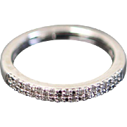 Sterling Silver .2CTW Diamond Band Ring - Size 7