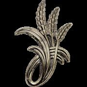 Danecraft Sterling Silver Wheat Brooch Pin
