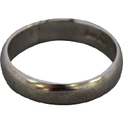 Sterling Silver Plain Band Ring - Size 8