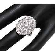 Stunning Art Nouveau/Early 1900's Platinum & Diamond (3.01tcw) Oval Ring in Size 5 - Includes Appraisal