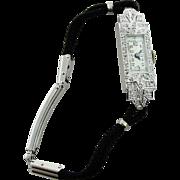 Vintage Croton Co Women's 17 Jewel Swiss Platinum & Diamond (.38ctw) Watch