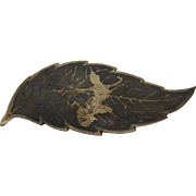 Siam Sterling Silver Leaf Pin With Dancer