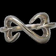 Sterling Silver Open Heart Ring - Size 6.75