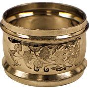 .925 Sterling Silver Napkin Ring - w/Floral Pattern