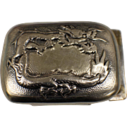 .925 Silver Belt Buckle w/Dragon Design