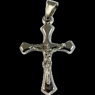 Excellent Sterling Silver 925 Crucifix Cross Pendant - Matte Finish