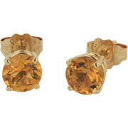 14kt Yellow Gold Citrine Stud Earrings