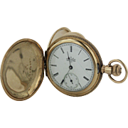 Antique 1894 Elgin 6s 7 Jewel Grade 117 14K Yellow Gold Hunter Case Pocket Watch
