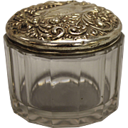 Small Glass Trinket Jar With Sterling Silver Lid